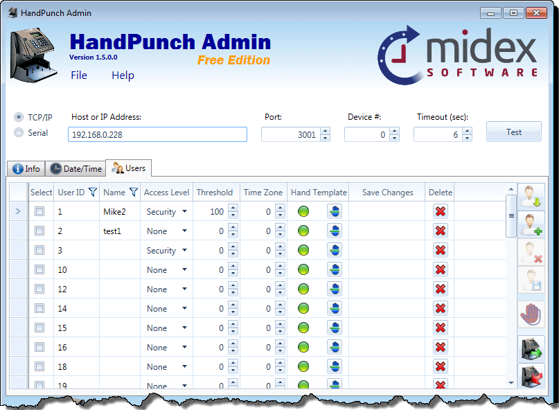 HandPunch Software | HandPunch Manager | HandPunch Admin | Free