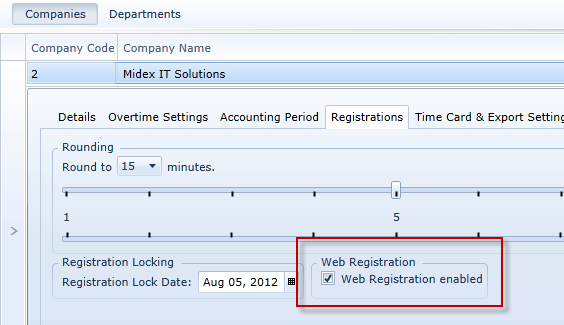 Company Web Registration Enable