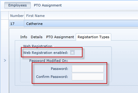 Employee Web Registration Enable