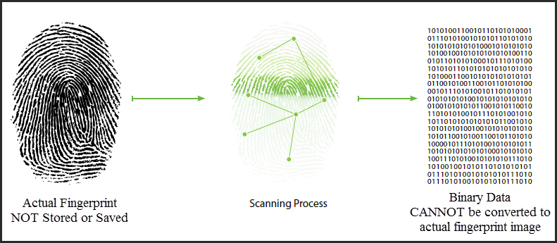 Convert Fingerprint to Binary Data
